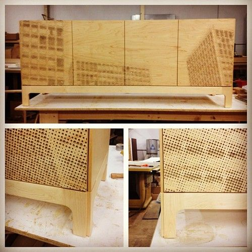 The Society Hill Towers Halftone Console By Michael Iannone/Iannone Design  U2014 Thousands Of Holes