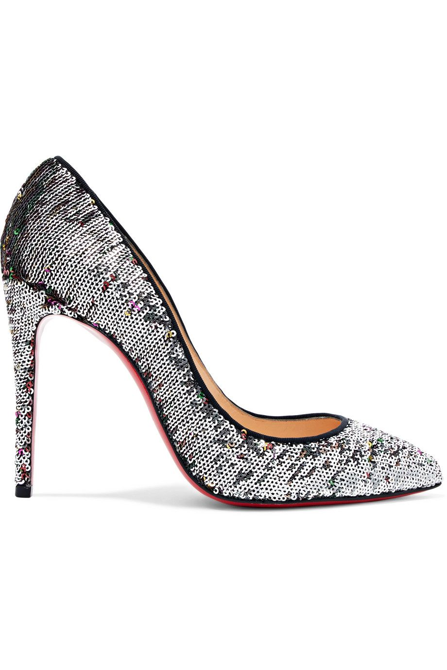 edaae1ef7c1 Christian Louboutin - Pigalle Follies 100 Sequined Canvas Pumps ...