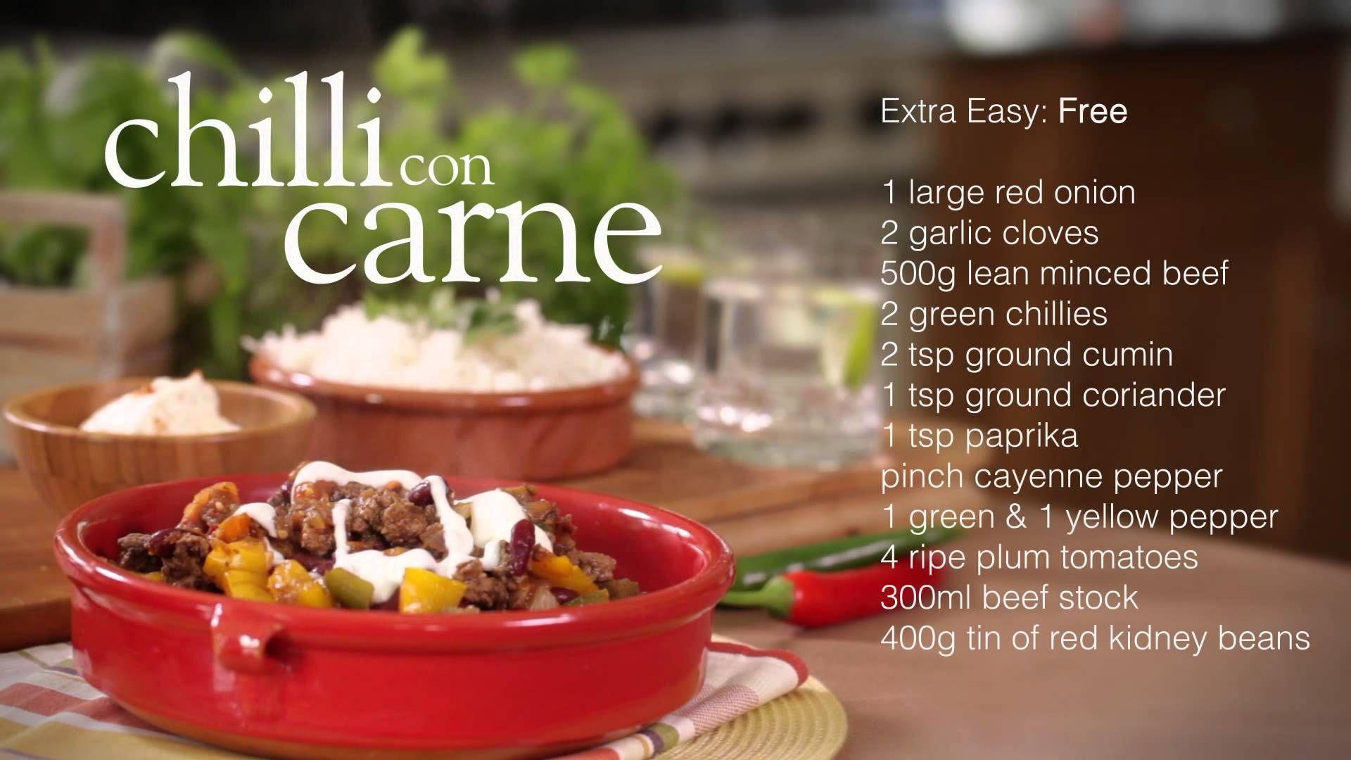 slimming w9rld chilli con carne)