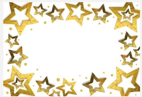 Golden Star Border Vector Material Vector And Png
