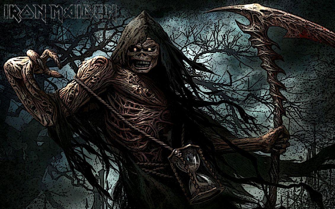 Eddie grim reaper by croatian-crusader