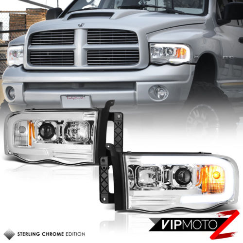 02 05 Dodge Ram Pickup 1500 2500 3500 Led Bar Neon Drl Tube Projector Headlight Dodge Ram Dodge Ram Pickup Dodge Ram 1500