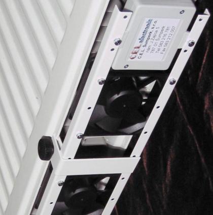 Termík je přídavné zařízení s řadou nehlučných, automaticky spínaných ventilátorků, které jednoduše připevníte ke spodnímu okraji radiátorů ústředního topení.