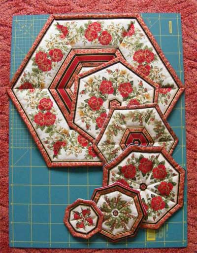 No Binding Quilted Placemats Quilted Table Runners Patterns Quilted Placemat Patterns Quilting Studio
