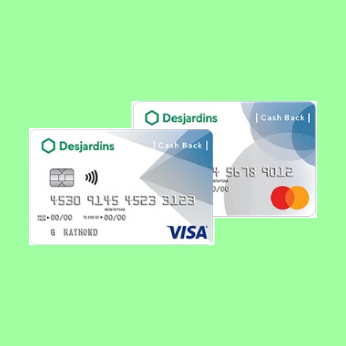 Desjardins Cash Back Visa Mastercard The Point Calculator Cash Reward Card Health Care Coverage