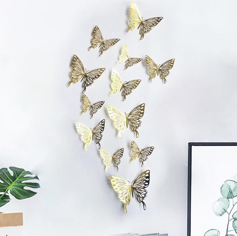 Pin Op 3d Vlinders Wanddecoratie Muurstickers