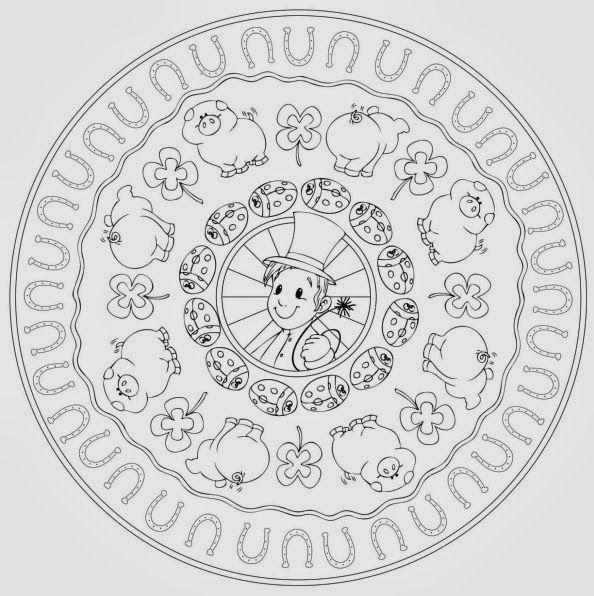 mandala zum jahreswechsel  mandalas ausmalen neujahr