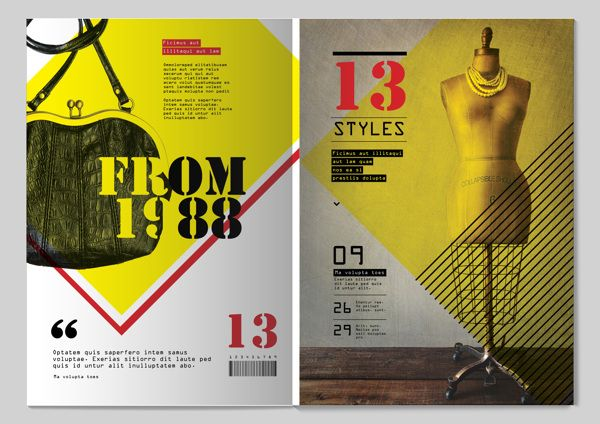 13 Styles Magazine Design by Tony Huynh, via Behance