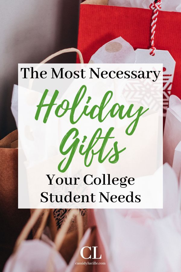 28 Best Gifts for College Students 28 super easy holiday gift ideas for college students. These easy, cheap gift ideas are perfect for the holiday season.