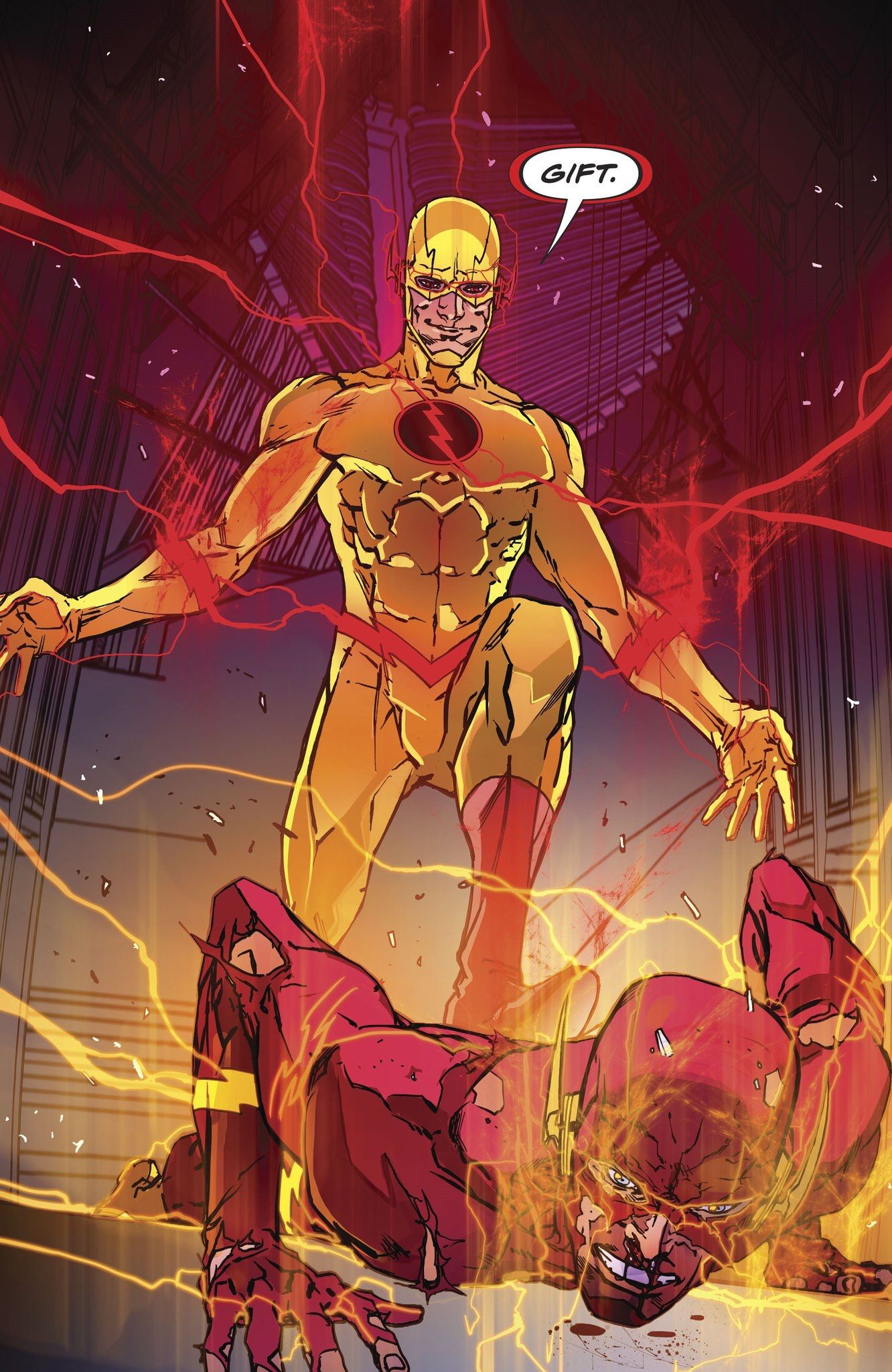Flash Vs Reverse Flash Flash Comics Flash Wallpaper Dc Speedsters
