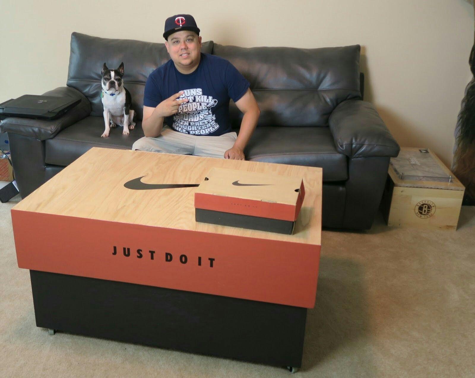 nike shoe box table exclusive Pinterest Nike shoe Box and Men