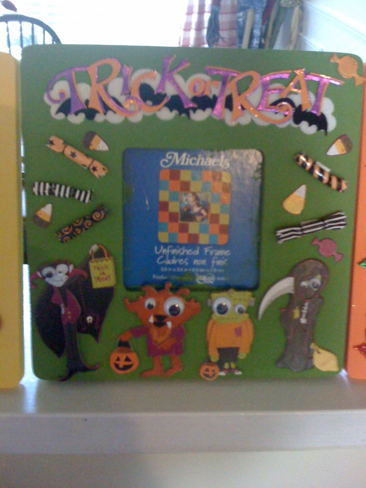 """Scrapbook"" an unfinished picture frame"