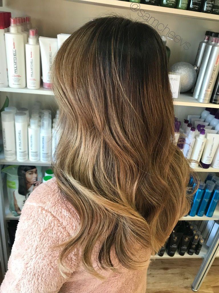 Balayage For Brown Hair Honey Blonde Caramel Chocolate Brown Hair