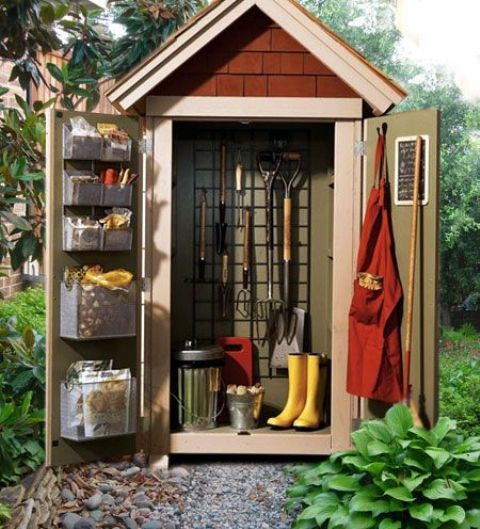 30 Small Backyard Landscaping Ideas On A Budget: Practical Garden Shed Storage Ideas