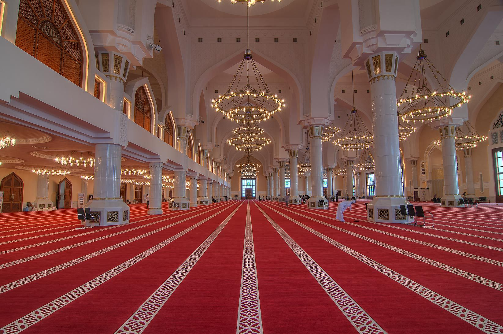 Red Carpet Inside State Mosque Sheikh Muhammad Ibn Abdul