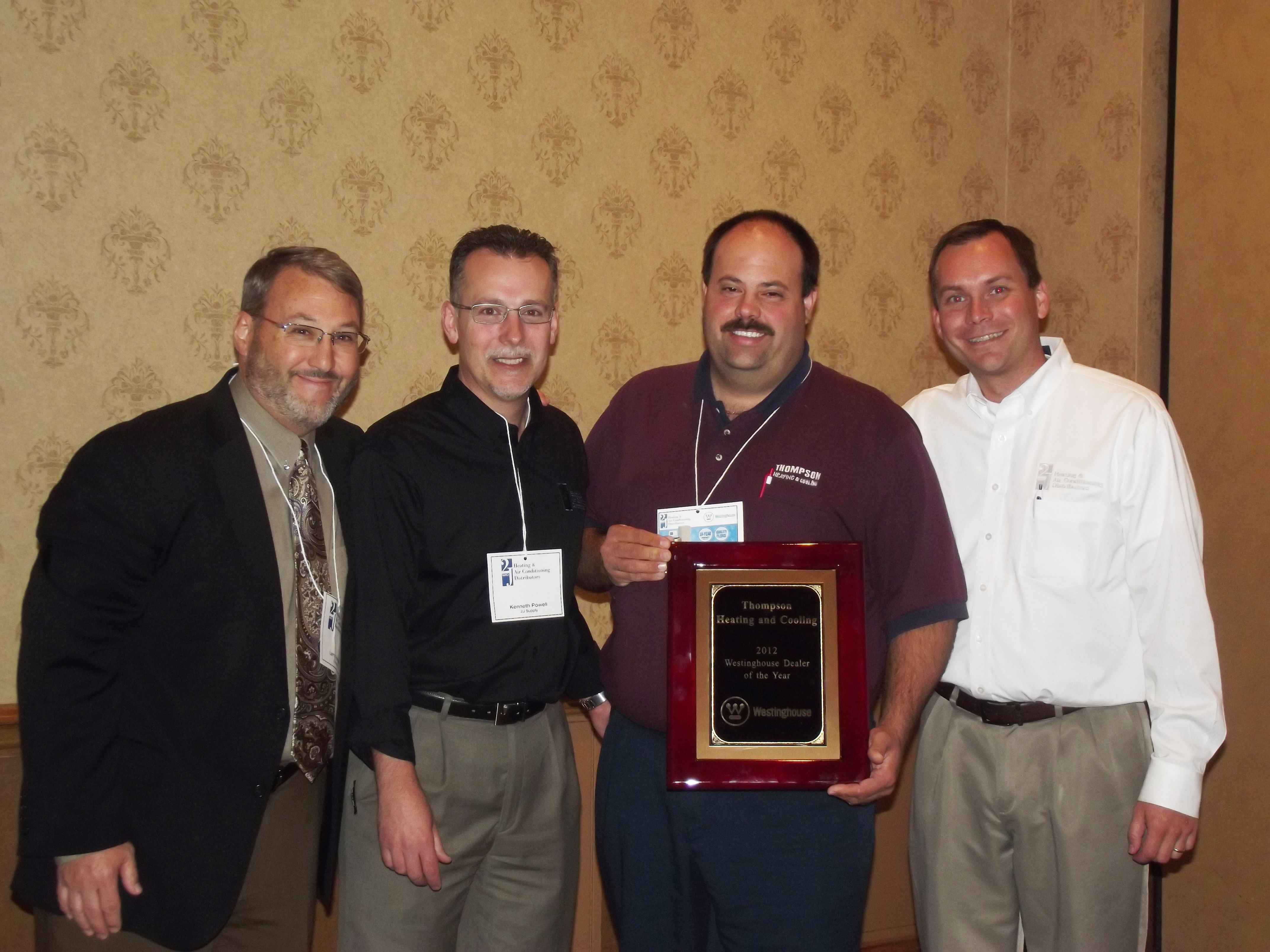 Louisville Branch Westinghouse Dealer Of The Year Thompson