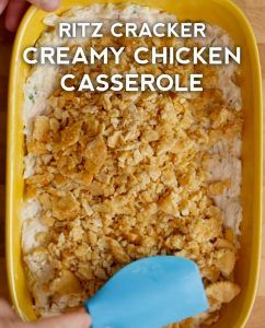 Creamy And Golden Ritz Chicken Casserole