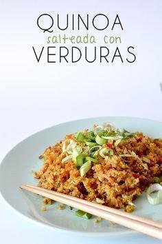 Esta receta de quinoa esta realmente deliciosa y hars que te olvides del arroz salteado con muchas verduras y huevo perfecta  Alimentacin