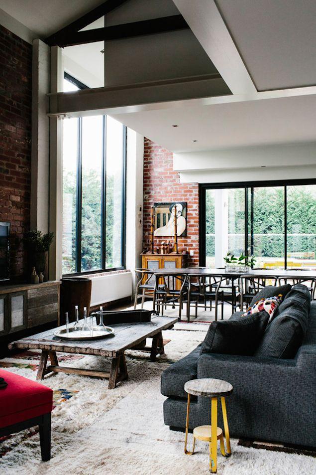 salon-style-industriel   Interiors   Pinterest   Salon style ...
