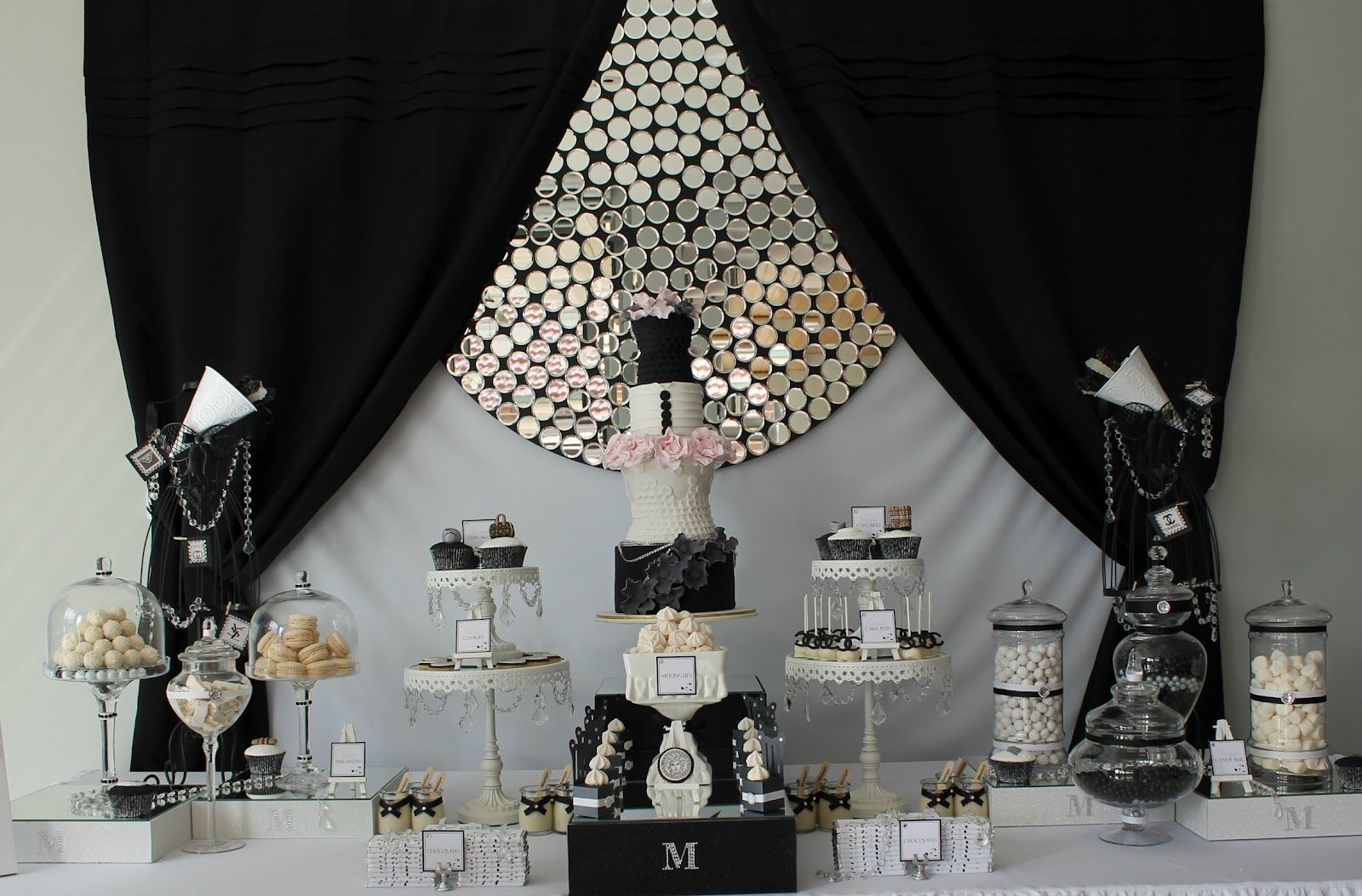 Black And White Party Food Ideas The Dessert Table Also Included