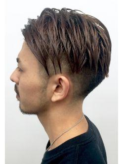 【heel】上杉秀明 ツーブロックモヒカン☆サイドパート Man Hair, Long Hairstyles