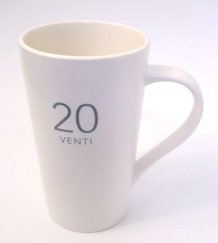 Starbucks 20 Venti Coffee Mug White Ceramic 2011 6 In.Tall