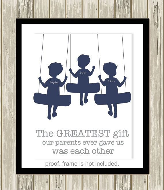 Three Brothers Wall Art Multiple Siblings Brother And Sister Etsy Art Wall Kids Sibling Wall Art Sibling Art