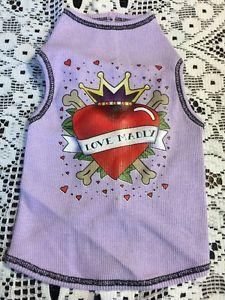 Dog T-Shirt Size Small Lavender Love Madly Heart With Crown http://www.ebay.com/itm/Dog-T-Shirt-Size-Small-Lavender-Love-Madly-Heart-With-Crown/131820466814?rt=nc&_soffid=5015693401&_soffType=OrderSubTotalOffer&_trksid=p5731.m3795