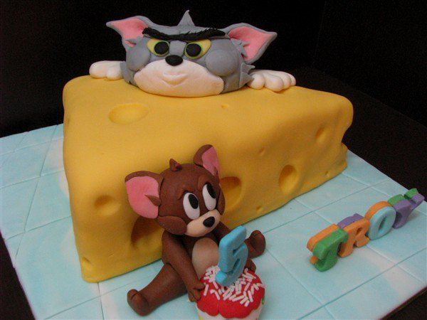 Tom and Jerry Birthday parties Pinterest Birthday cakes and Cake