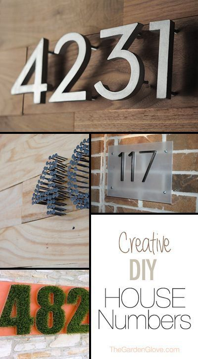 Creative Diy House Number Signs Address Plaques Huisnummers