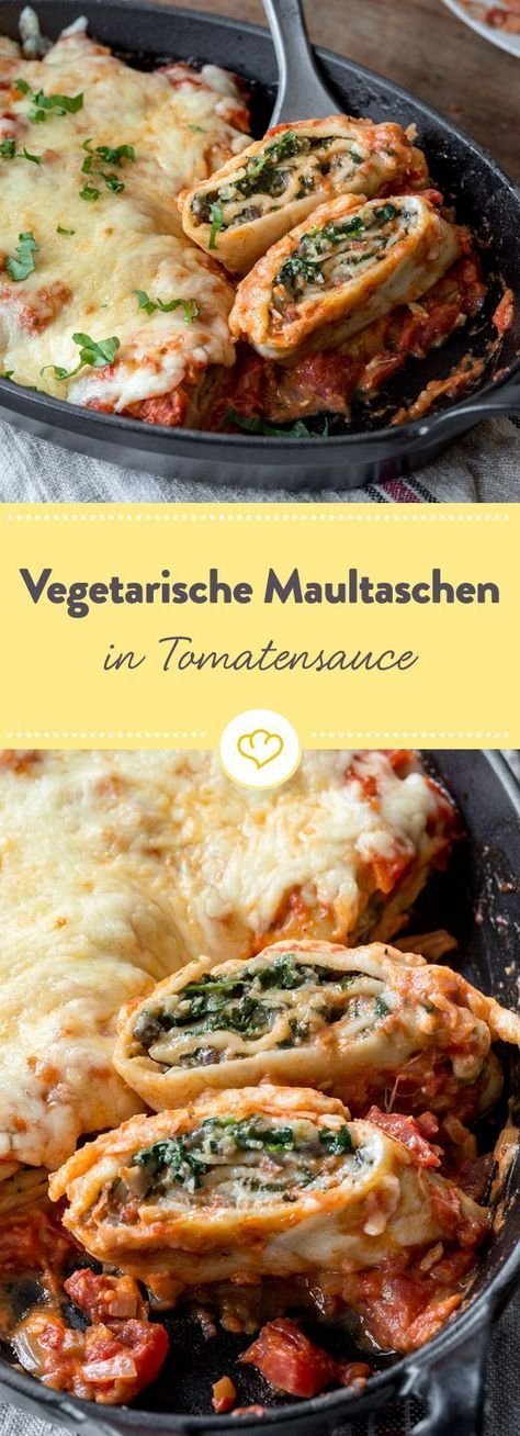vegetarische maultaschen berbacken aus dem ofen rezept essen pinterest vegetarisch. Black Bedroom Furniture Sets. Home Design Ideas