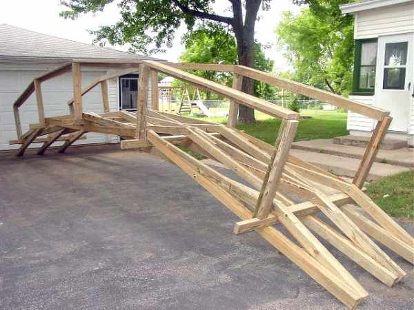 Pin By Mike Winfrey On Building Wood Bridge Backyard Bridges