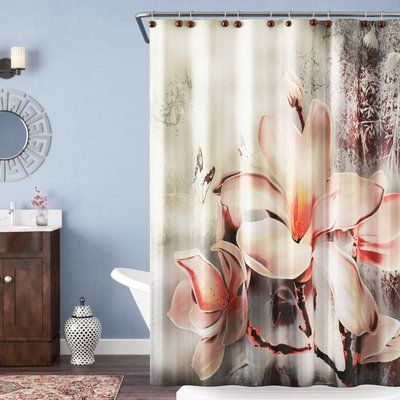 Ambesonne Rustic Old Street With Flowers Shower Curtain Set