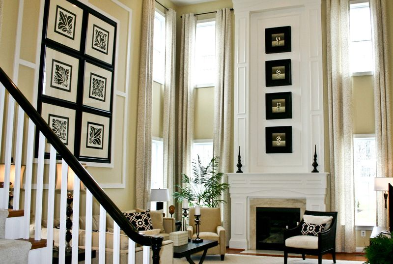 Artwork Ideas For Tall Walls In Great Room Rooms