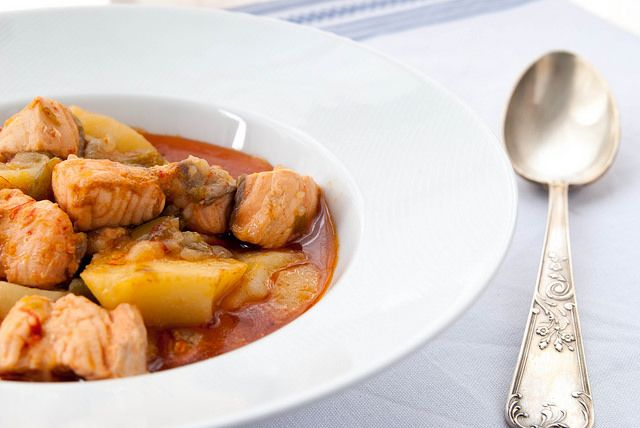 Marmitako de salmón - Recetasderechupete.com