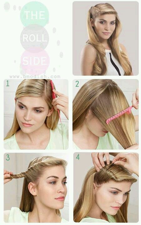 Five Minutes Hairstyle Ideas From Bmodish Com Be Modish Vintage Hairstyles Tutorial Easy Vintage Hairstyles Vintage Hairstyles