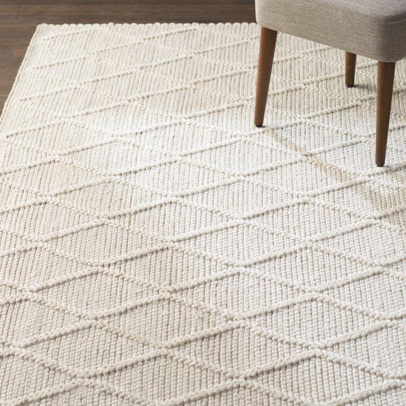 Billie geometric handmade flatweave ivory area rug area
