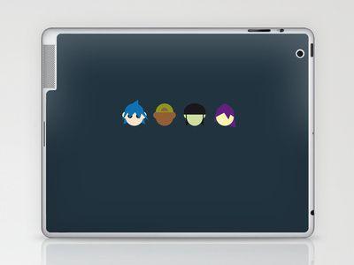 Famous Capsules - Gorillaz Laptop & iPad Skin by Greg-guillemin - $25.00