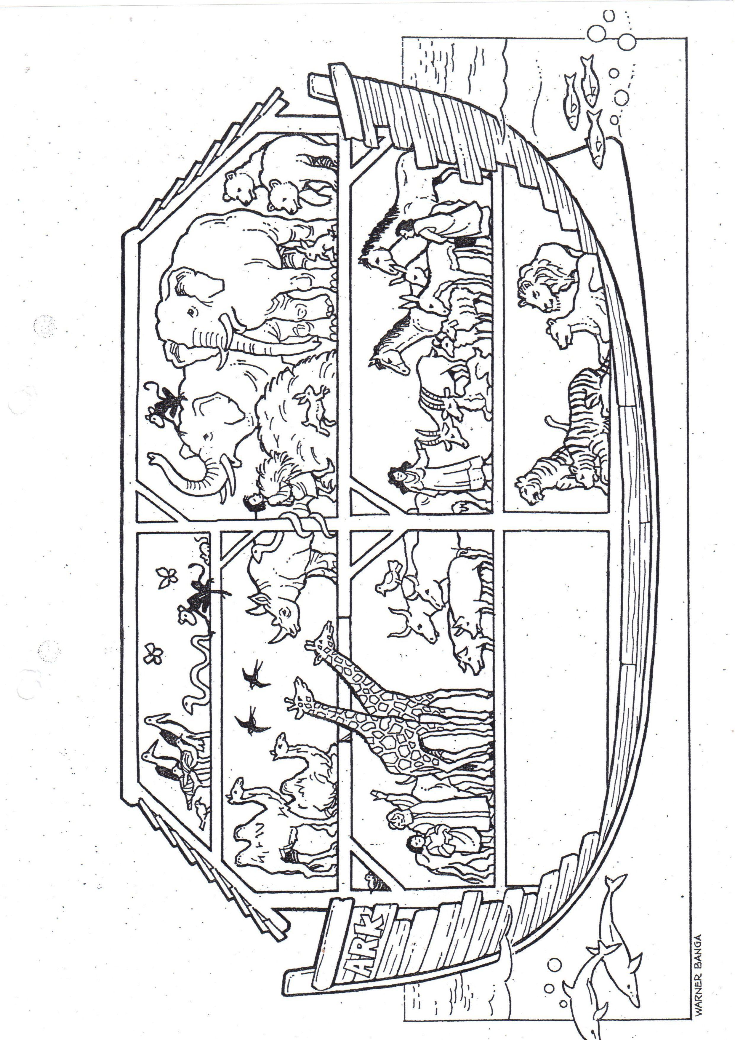 afbeeldingsresultaat voor prenten noach bouwt een ark