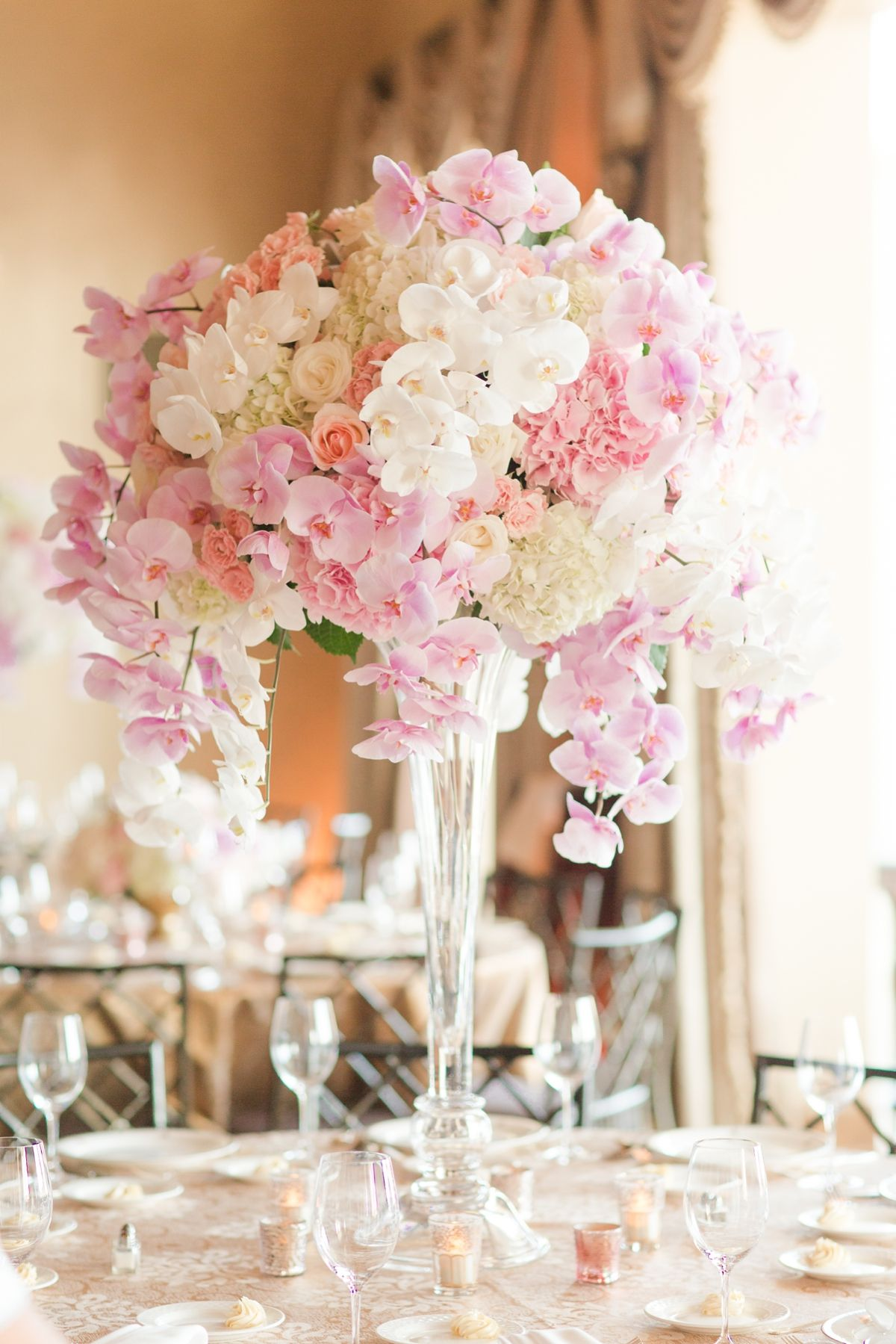 Floral Centerpieces To Die For Large Orchid Centerpieces Pink And