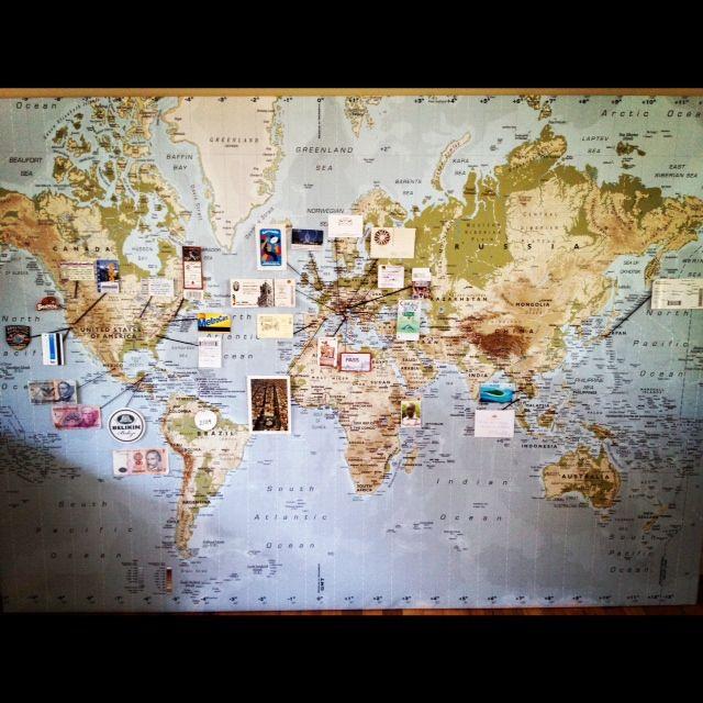Pingler ses souvenirs de voyage sur une carte du monde travel map globe gumiabroncs Choice Image