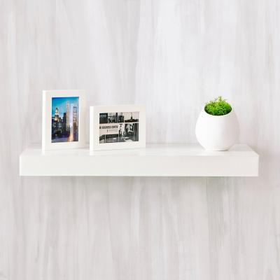 Way Basics Ravello 24 In X 2 In Zboard Paperboard Wall Shelf