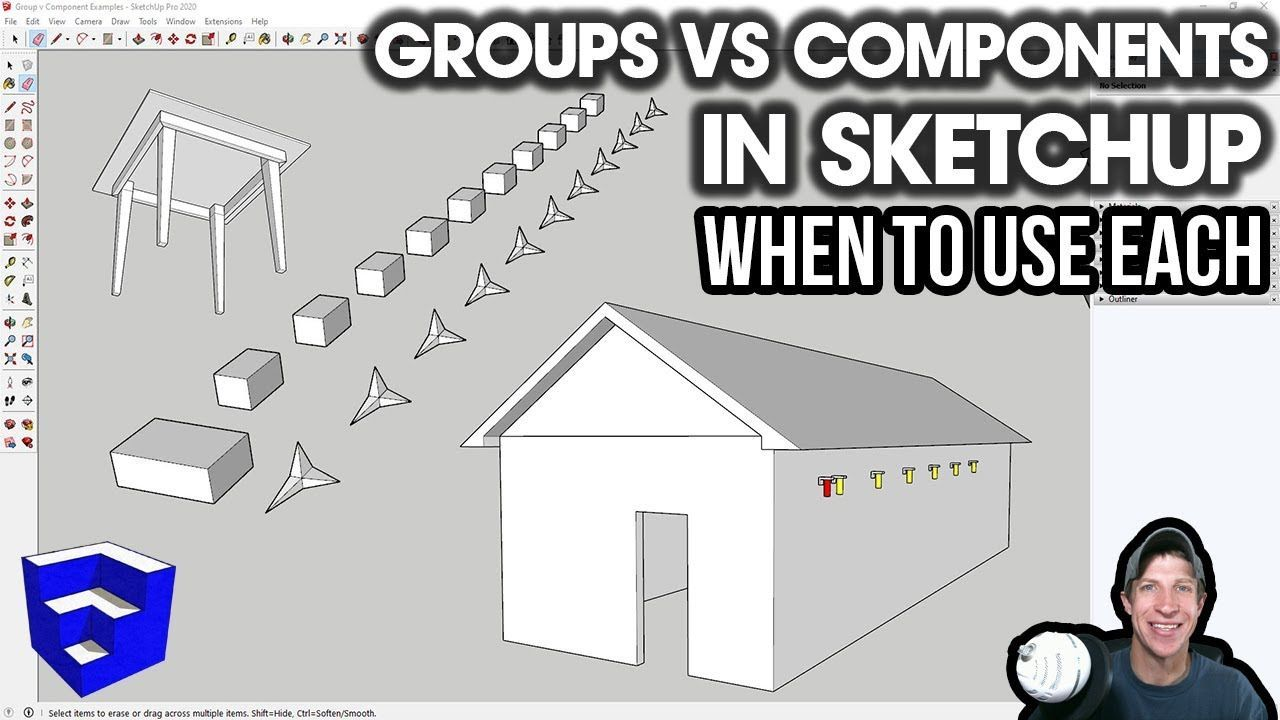 Groups Vs Components In Sketchup When To Use Each In 2020