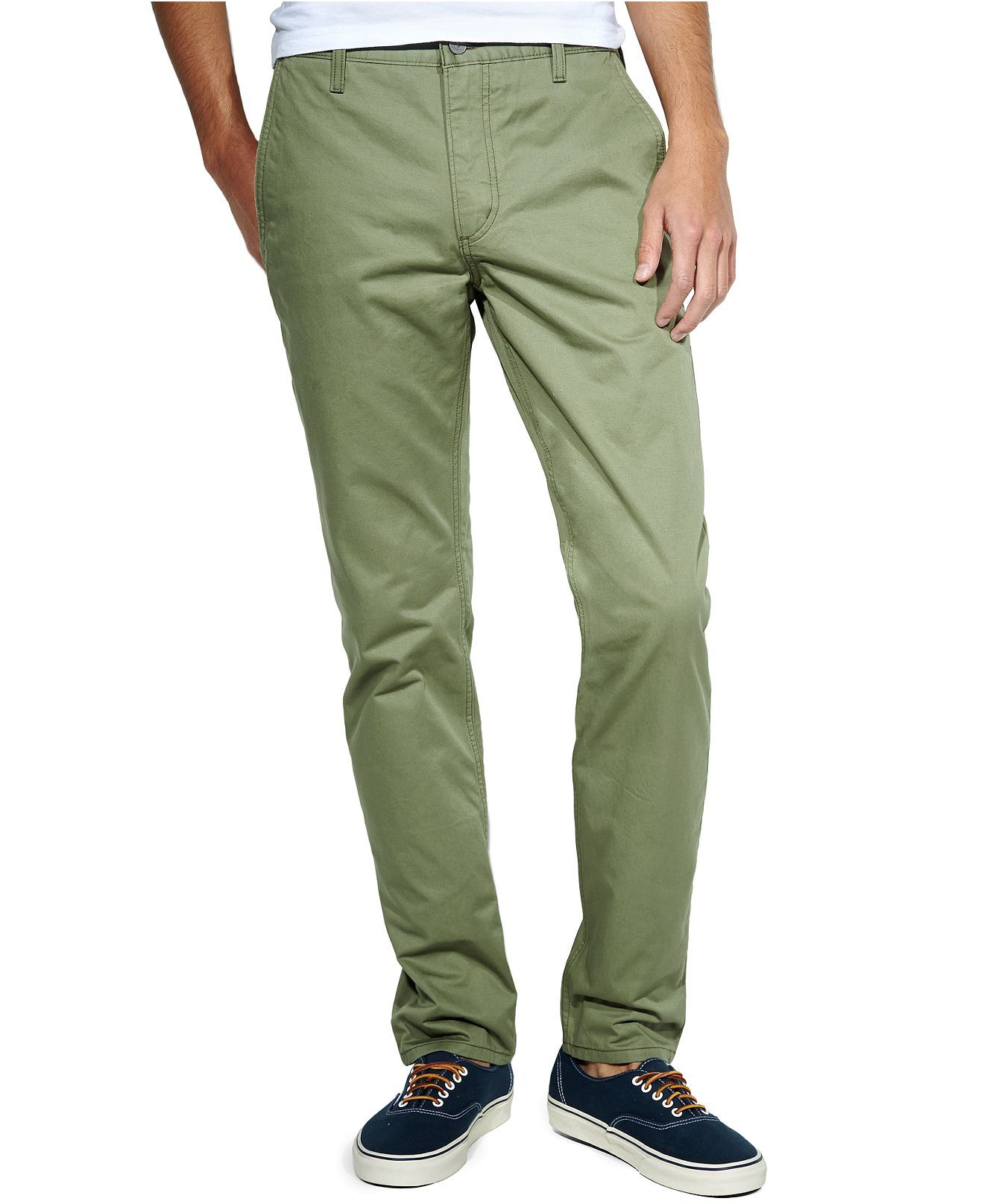 Levis 511 slim fit hybrid trousers in deep lichen green