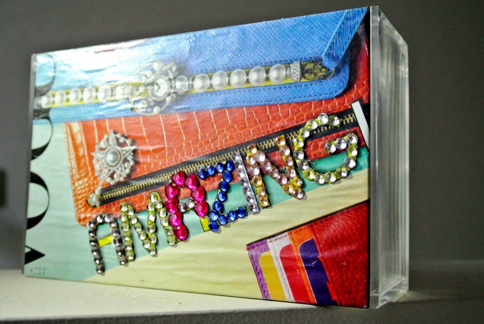 Lia bag Vogue and multicolour strass