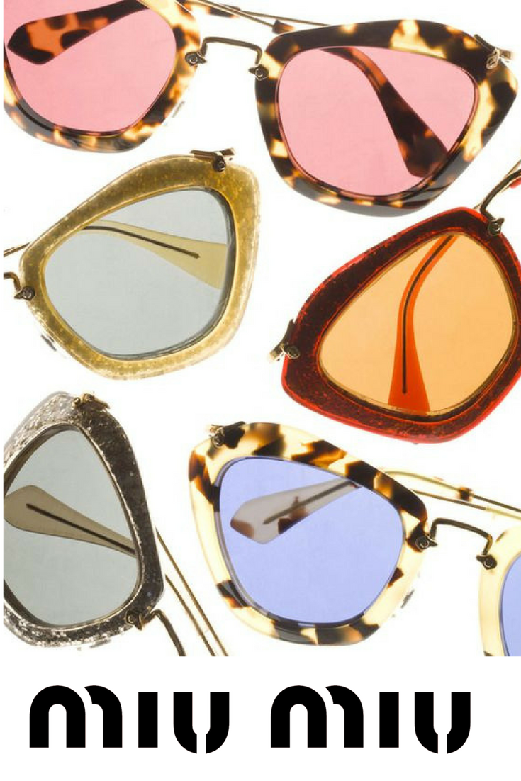 28afbc4a242 Miu Miu cat eye sunglasses are available in a variety of hot colors! Pick  your pair on our site now!  miumiu  sunglasses  summer  90 s  eyewear ...