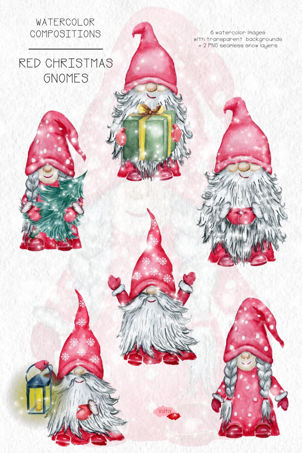 Watercolor Christmas Gnomes Png Winter Red Dwarves Yule Etsy In 2021 Christmas Watercolor Christmas Gnome Clay Christmas Decorations
