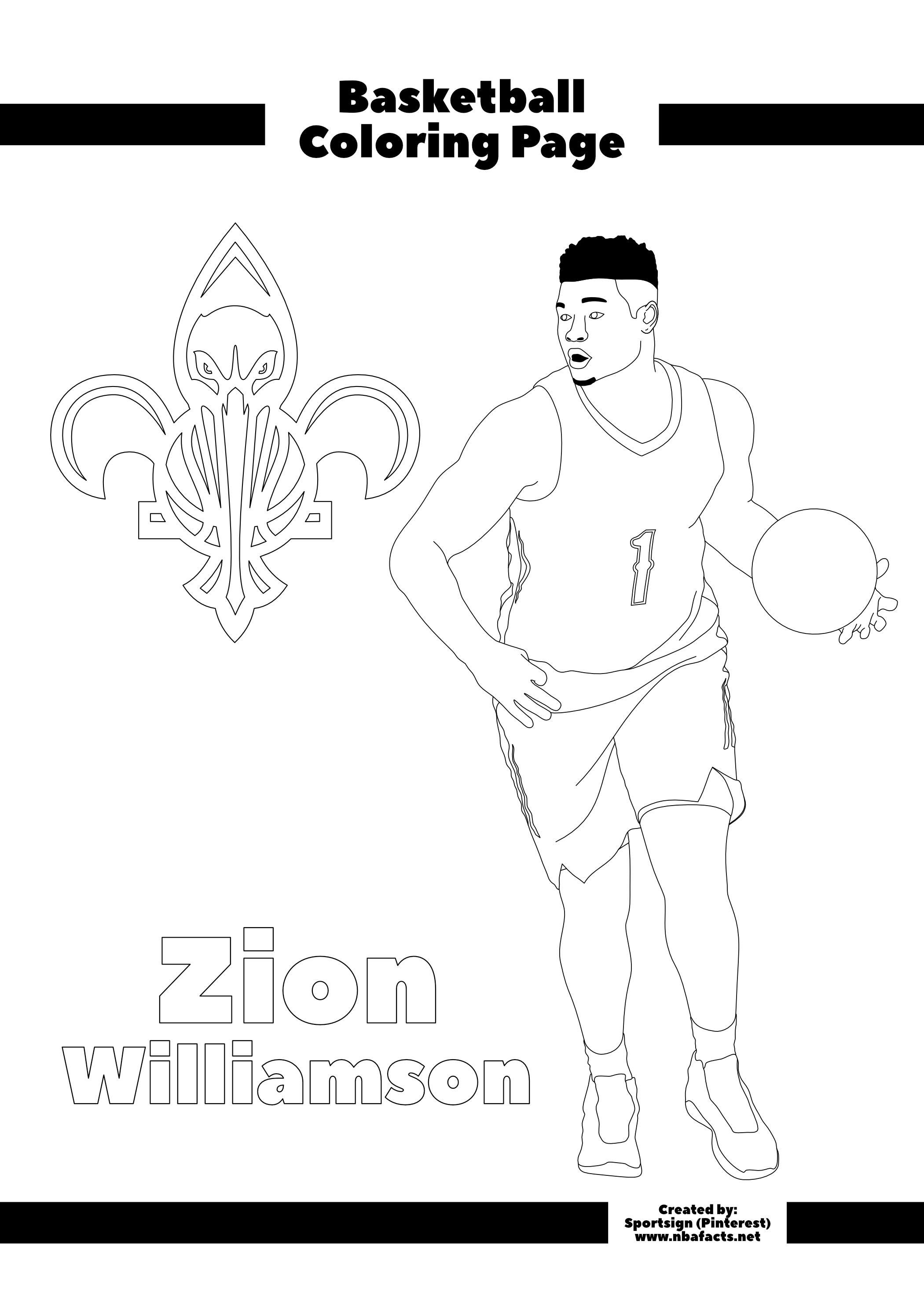 Free NBA Coloring Sheets nel 2020