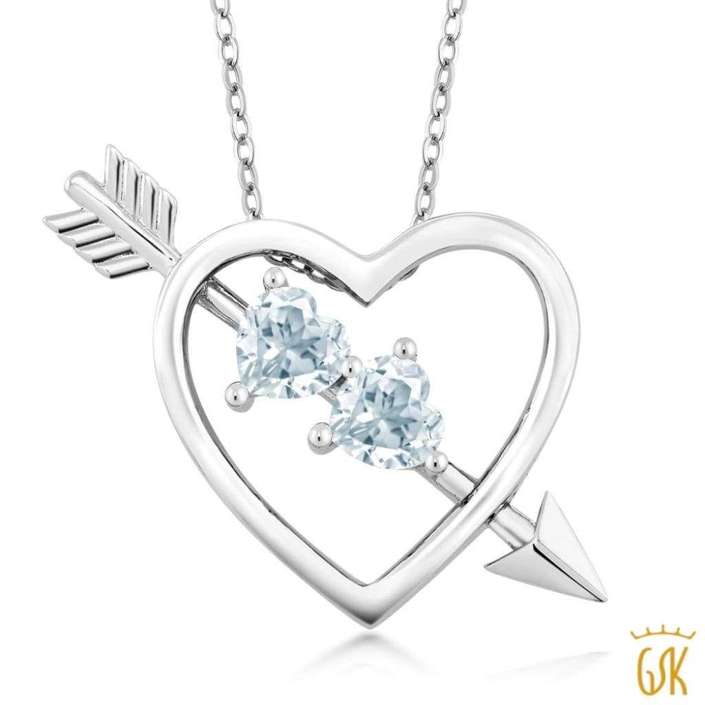 1 12 Ct Heart Shape Sky Blue Topaz 925 Sterling Silver