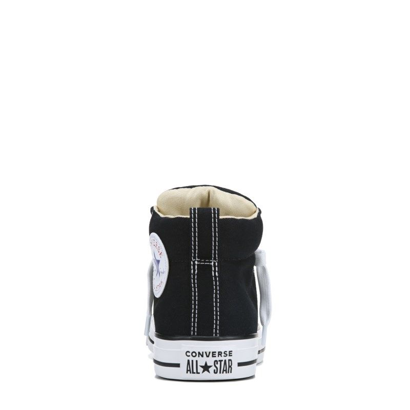 4374b2dfda80 Converse Men s Chuck Taylor All Star Street Mid Top Leather Sneakers (Black  White)